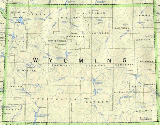 Locations Cities and Counties for Wyoming Process Serving Services