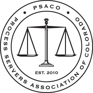 Process Servers Association of Colorado membership badge